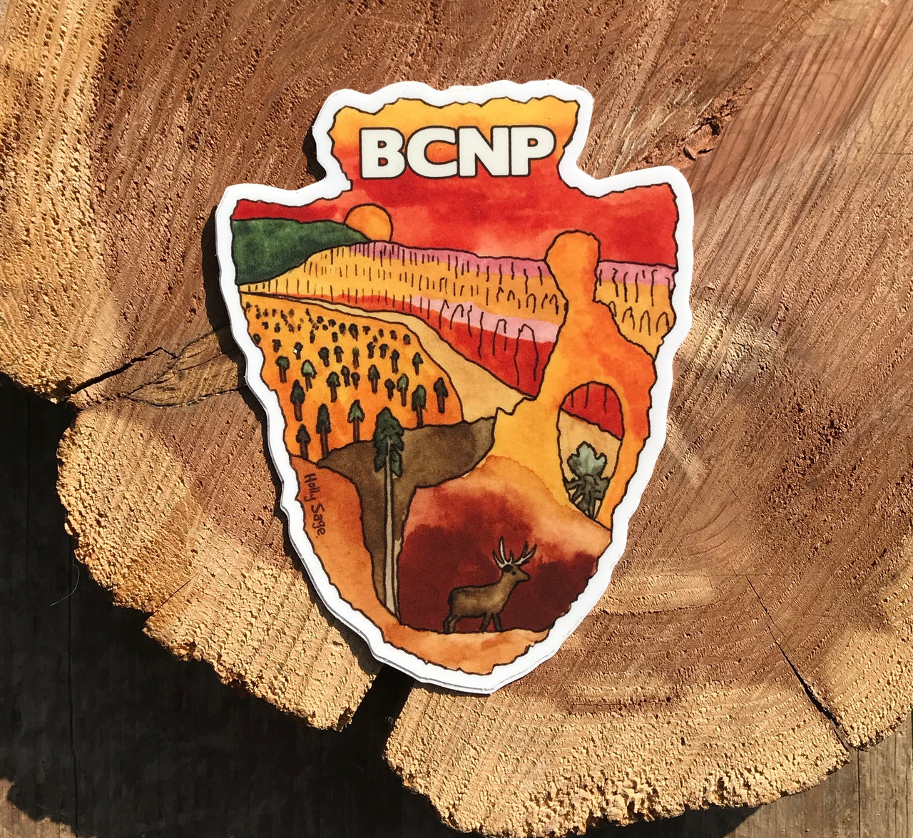 Bryce Canyon National Park arrowhead sticker