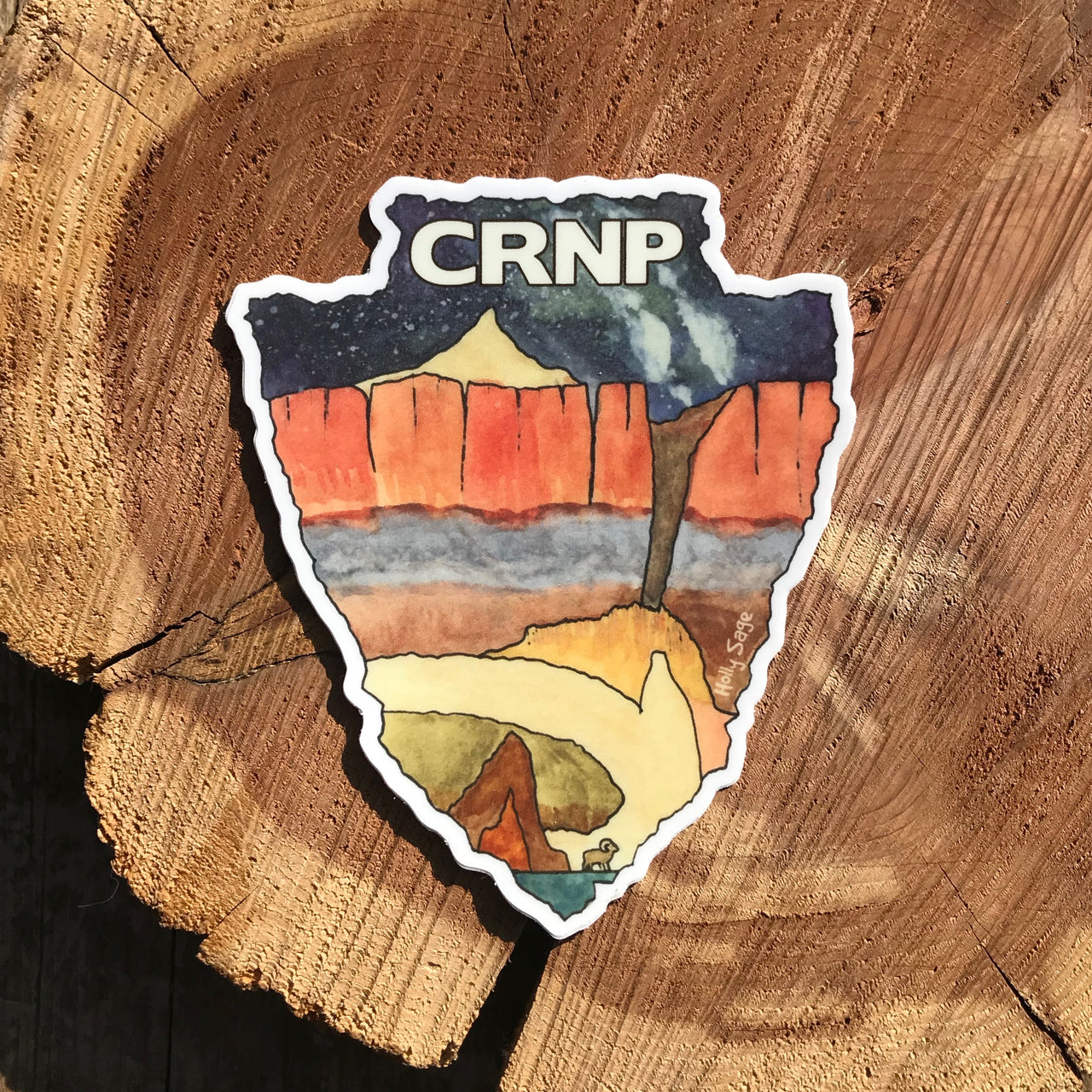 Capitol Reef National Park arrowhead sticker