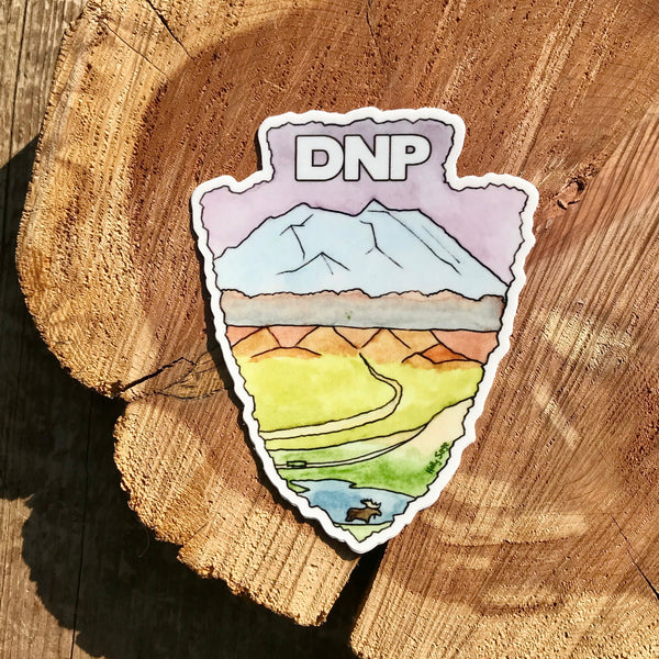 Denali National Park arrowhead sticker