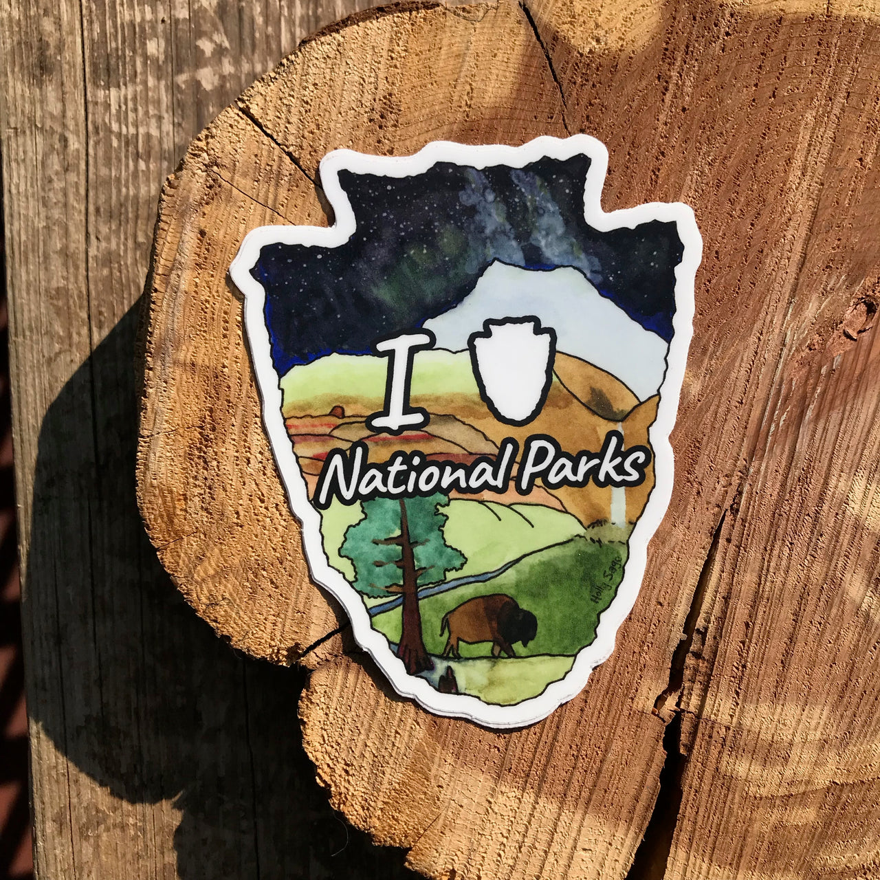 National Park Love Sticker
