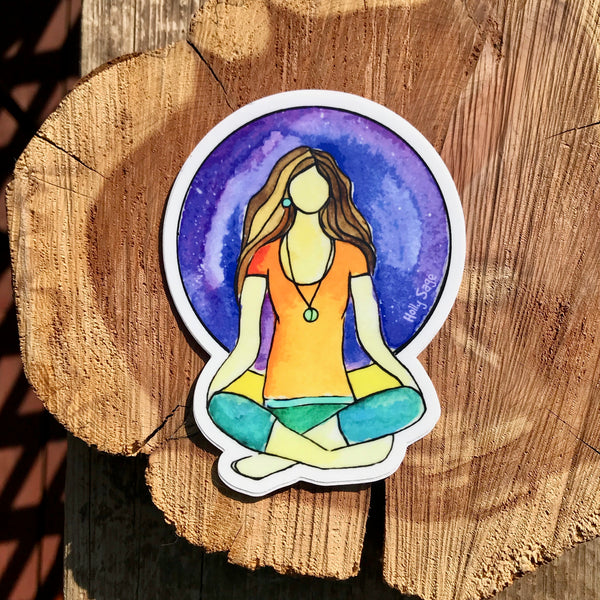 Yogi Meditation Sticker