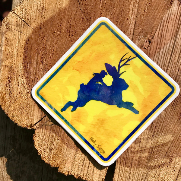 The Wild Western Jackalope Sticker