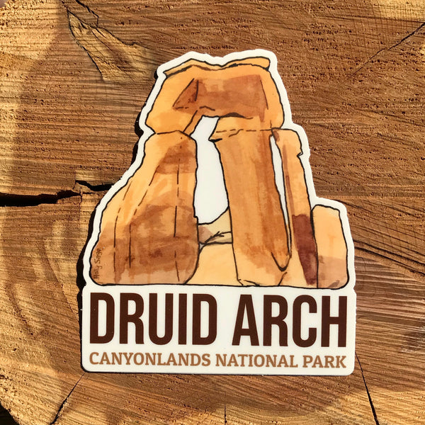 Druid Arch from Canyonlands National Park sticker