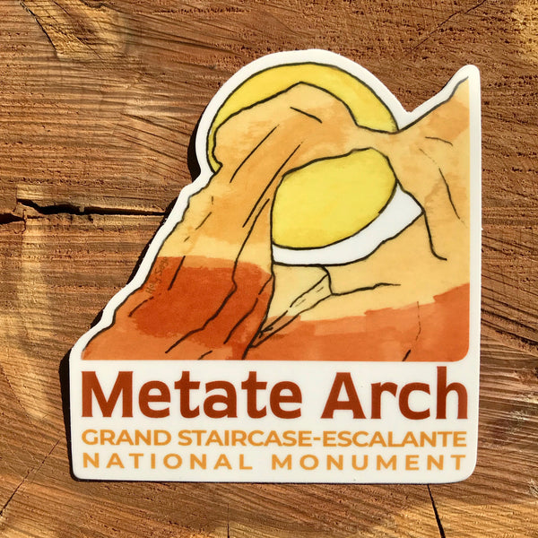 Metate Arch in Grand Staircase sticker