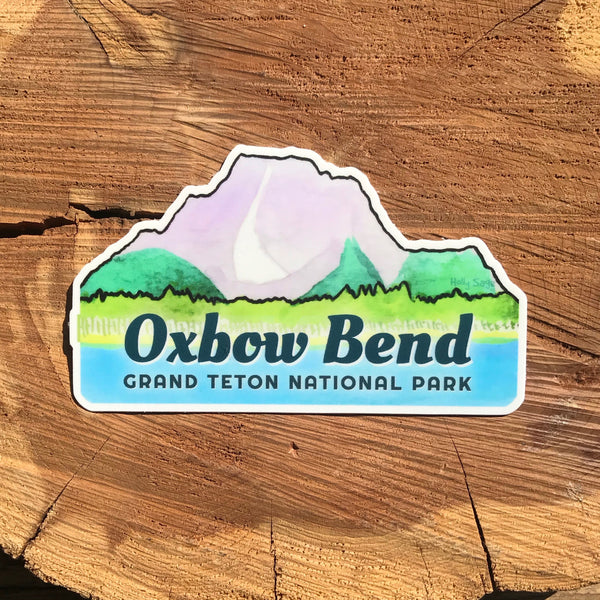 Oxbow Bend and Mount Moran sticker