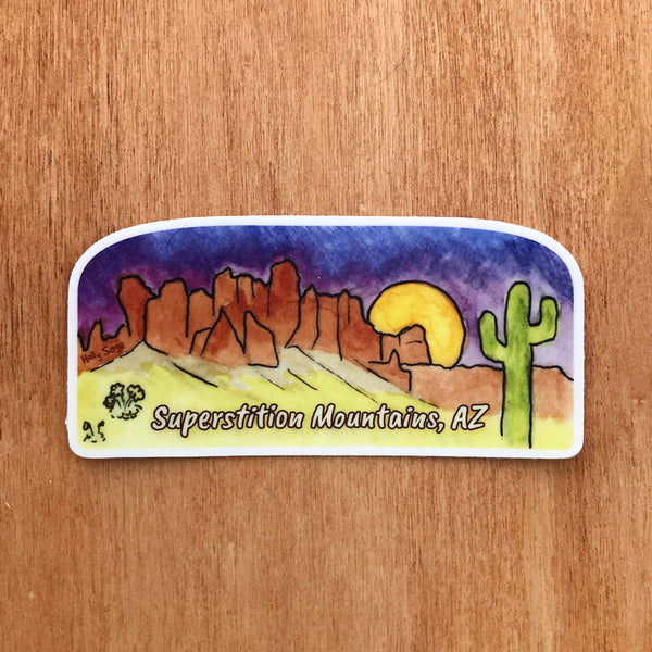 Superstition Mountains sticker