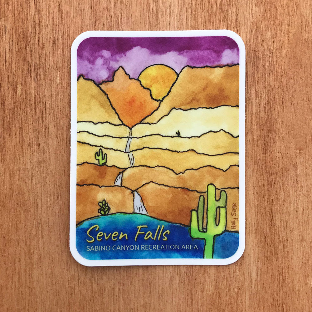 Sabino Canyon Seven Falls Trail sticker