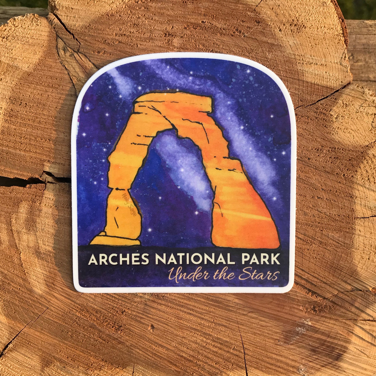 Arches National Park Under the Stars sticker