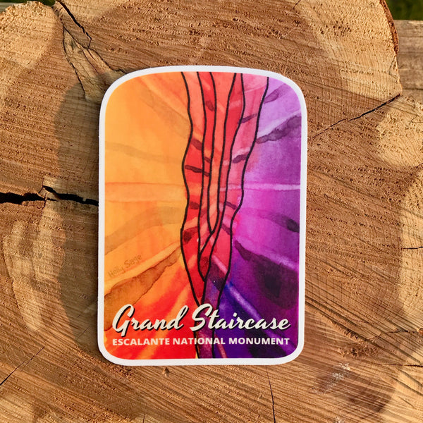 Colorful slot canyon sticker with Grand Staircase
