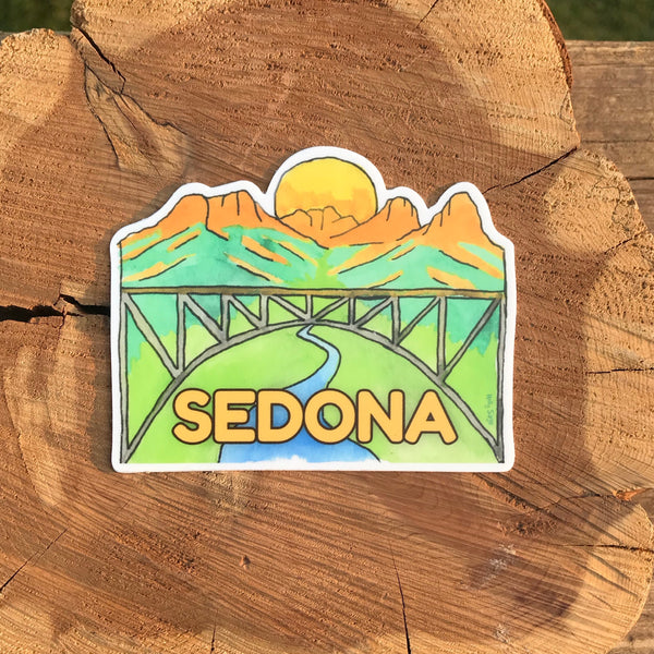Midgley Bridge and Sedona landscape sticker