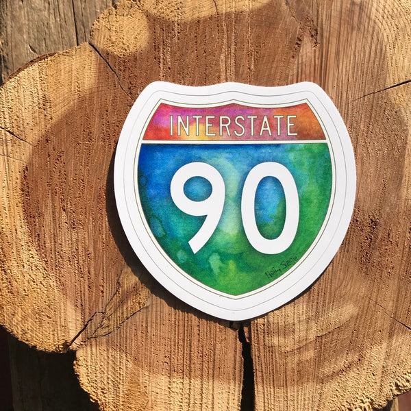 Interstate 90 Sticker