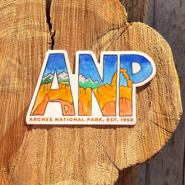 Arches National Park Abbreviation Sticker