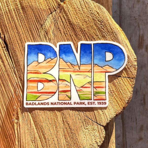 Badlands National Park Abbreviation Sticker