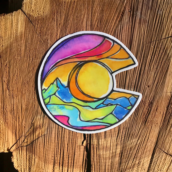 Pastel Colorado Sticker