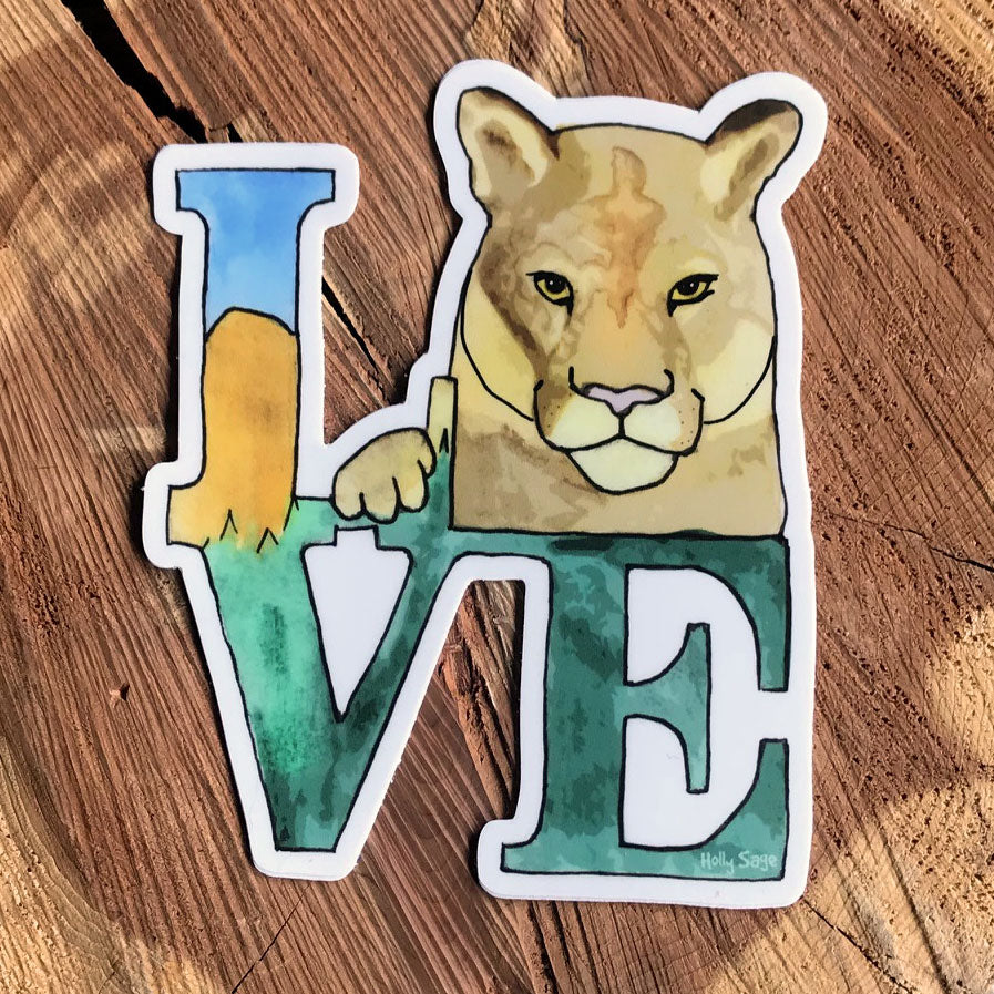 Love sticker for mountain lions