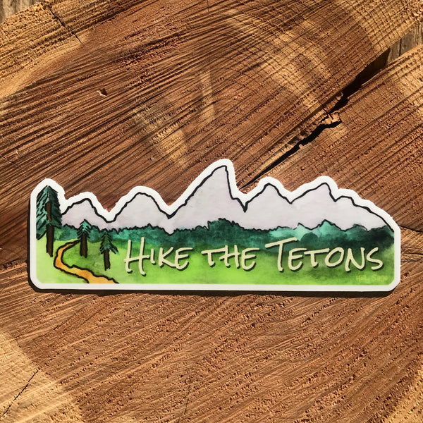 Hike the Tetons sticker