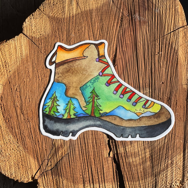 Hiking Boot Sticker