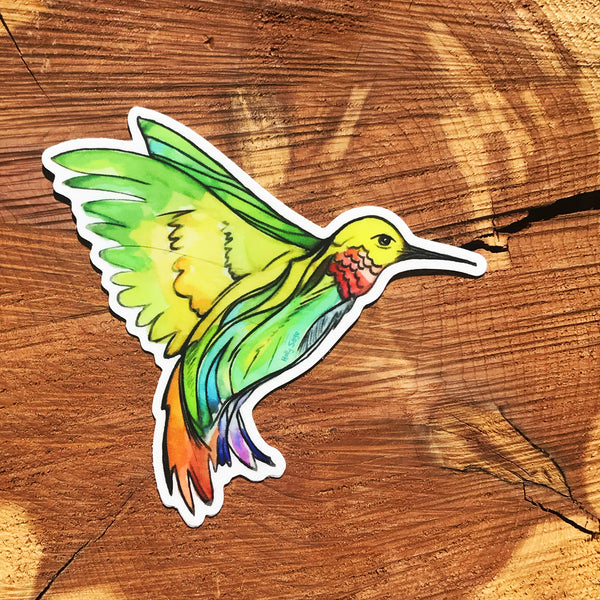 Hummingbird sticker in flight