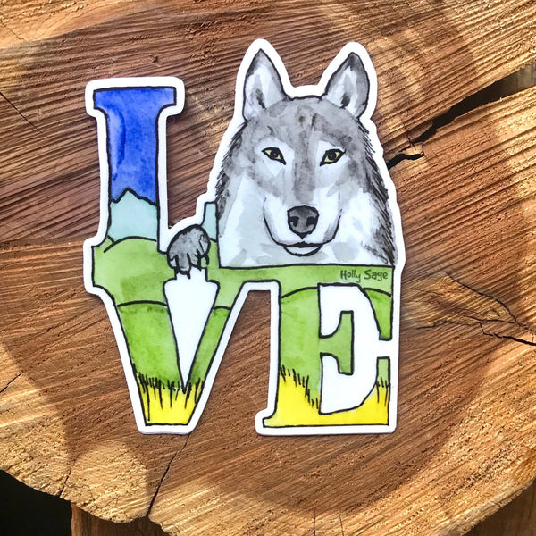 Wolf Love Vinyl Sticker