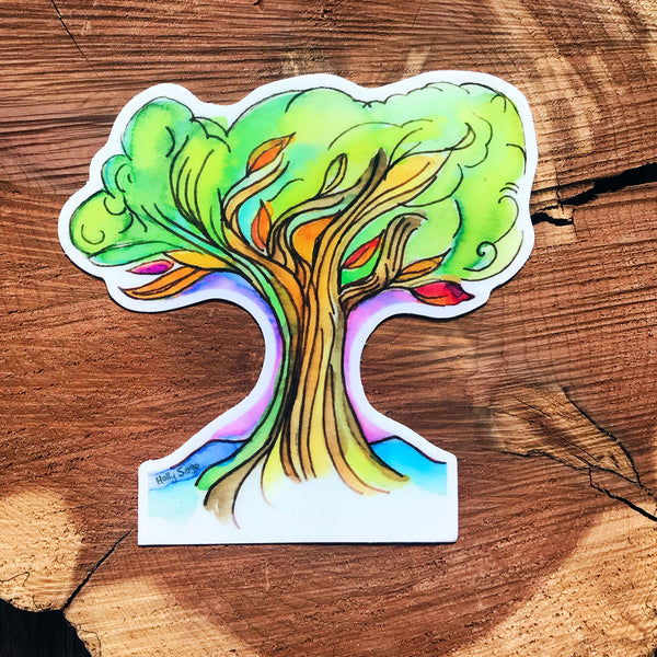 Colorful and calming tree sticker