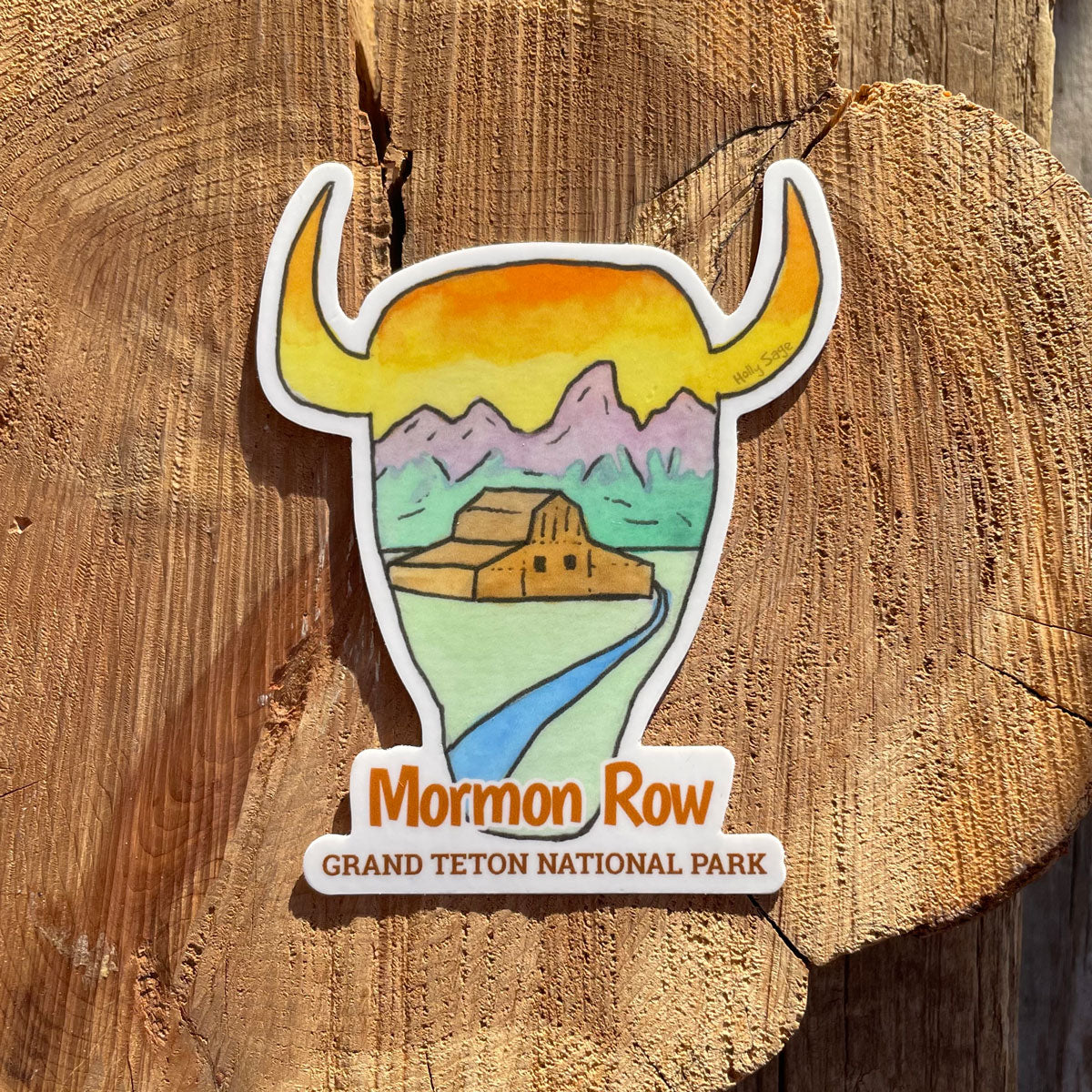 Mormon Row Bison Head Sticker