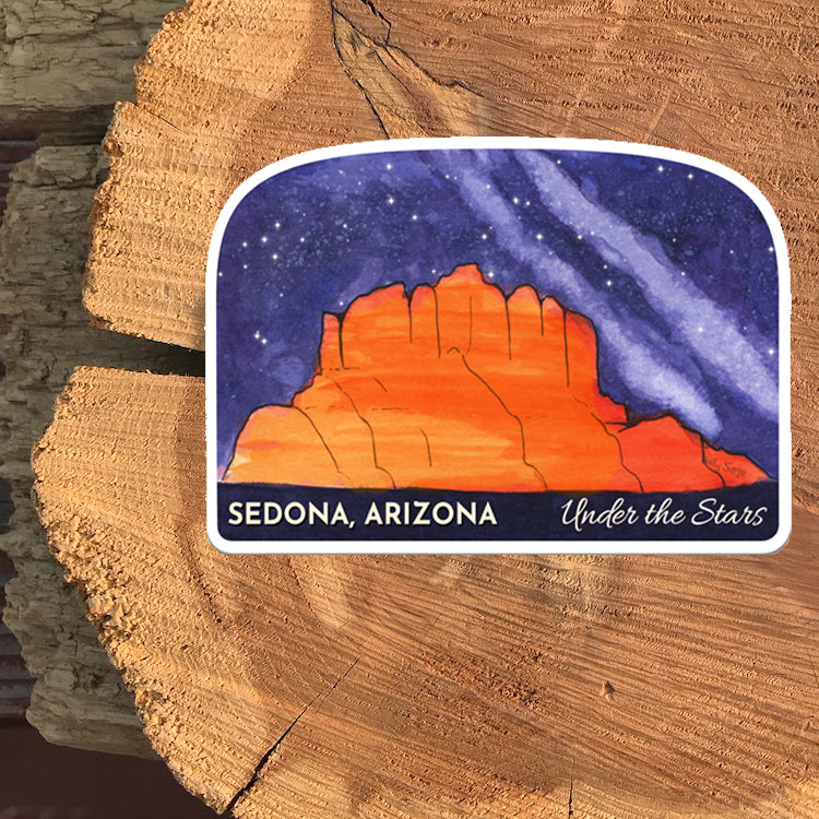 Sedona Under the Stars Sticker