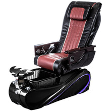 Red Black Pedicure Spa Chair with LED Lighting