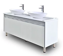 Luxury Double Sink With Cabinets