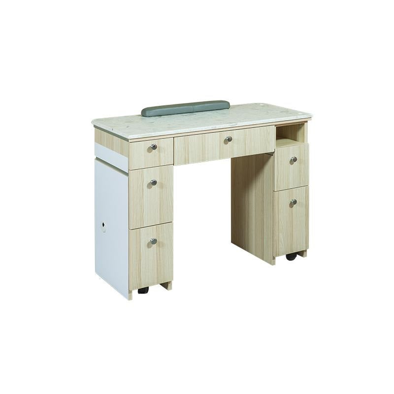 salon manicure technician table with ventilation