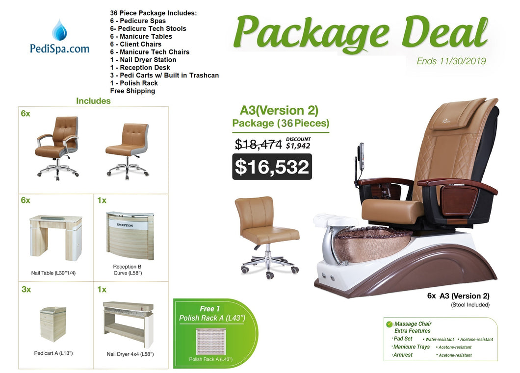 36 Piece Nail Salon Package (A3V2) - Free Shipping