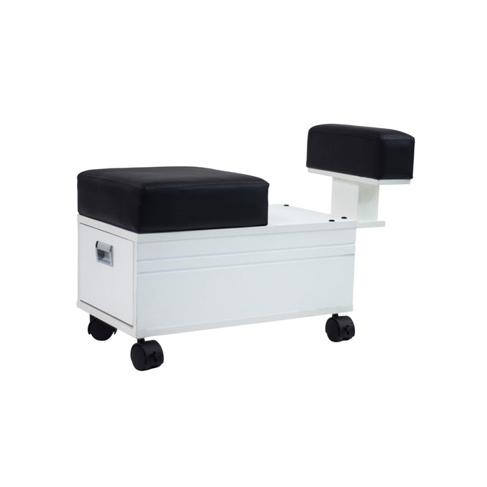 Alera Pedi Cart with Footrest (White)