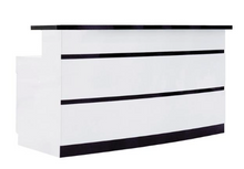 Lux Striped Reception Desk