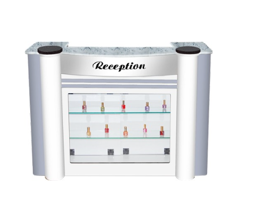 APALIS Reception Counter - Gloss White