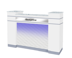 ARGUS Reception Counter - GLOSS WHITE