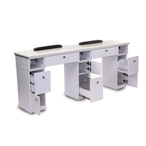 Sonoma Double Manicure Table - Available with or without exhaust ventilation