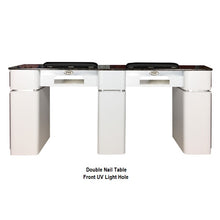 Double Manicure Table-White
