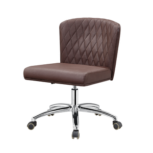 Brown Nail Salon Technician Chair with Back