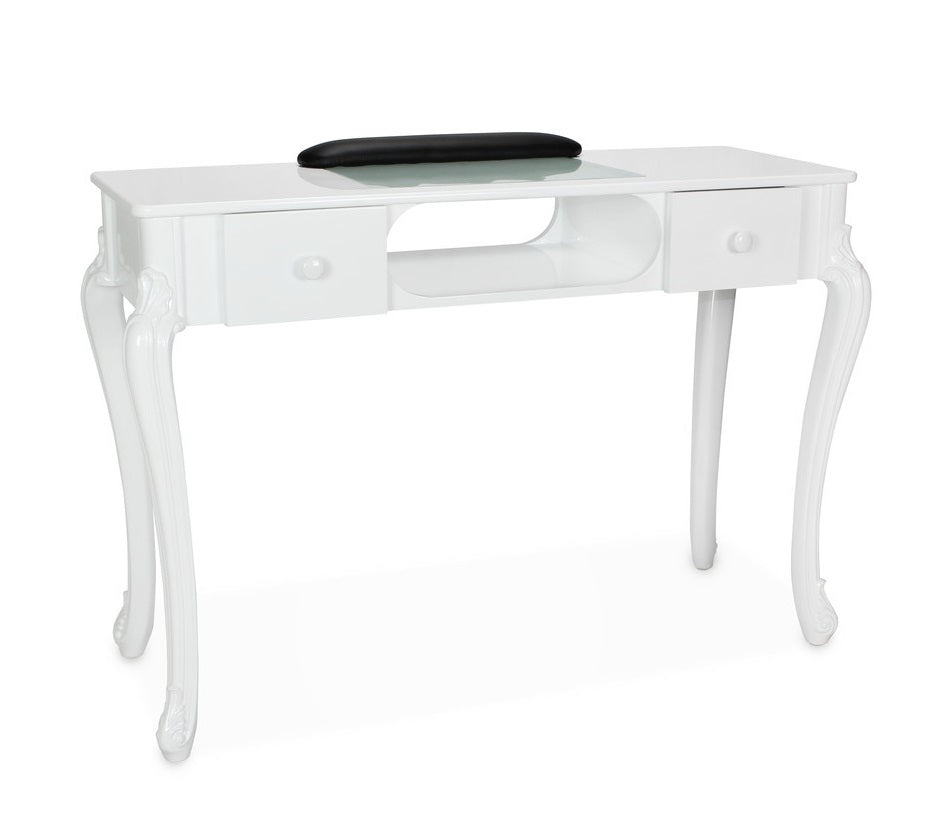 Victorian Manicure Table - Black or White - PediSpa.com