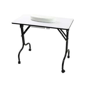 Littrell Portable Manicure Table with Folding Legs
