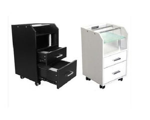 Salon Pedicure Trolley - White Or Black - Accessories