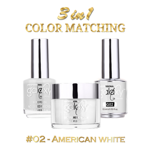 American White, Nail Polish, Gel Polish, Dipping Powder Set