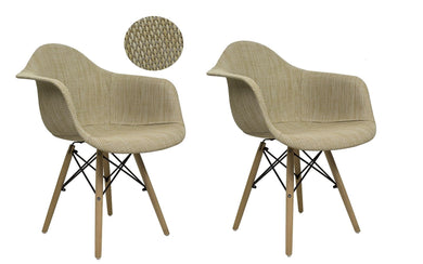 Bohemian Accent Leisure Chair (Set Of 2) Cream/beige - Chairs