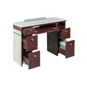 "Izzy Manicure Table - 39"" - Salon Ventilation Pipes"