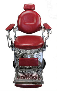barber chair, red