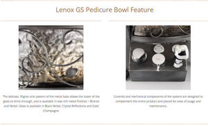 Lenox GS Pedicure Bowl