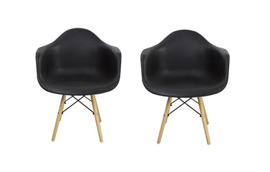 Eames Leisure Accent Chair (Set Of 2) White Or Black - Chairs