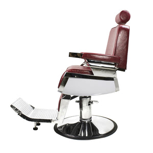 Lincoln Barber Chair - Crimson