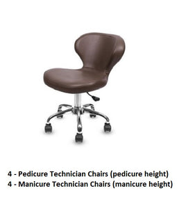 Salon Pedicure Techncian Stool