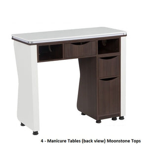 PRO Package - (4) Pedicure Spas, (4) Nail Tables, Reception Desk, (12) Chairs - LOWEST PRICE EVER! FREE SHIPPING!