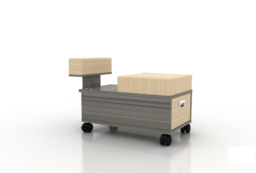 Alera Pedicure Technician Cart with Footrest - PediSpa.com